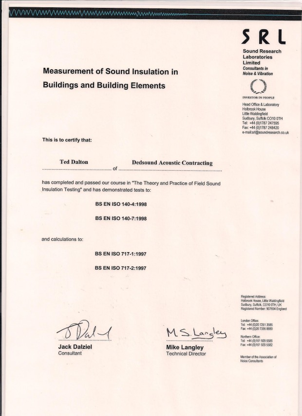 SRL Certification 001
